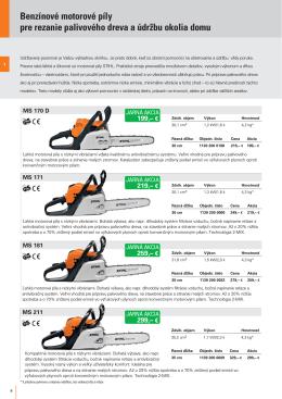 Benzínové motorové píly pre rezanie palivového dreva a údržbu