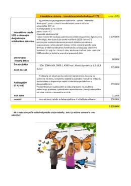 interaktívna tabuľa dualboard 1279 cena s DPH interaktívna tabuľa