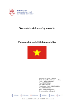 Ekonomicko-informačný materiál Vietnamská socialistická republika