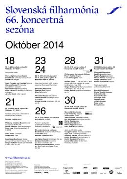 1818. 10. 2014, sobota, cyklus M3 Malá sála SF, 16.00 h Koncert