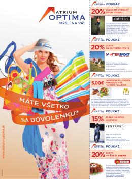20% 20% 20% 15% - Atrium Optima Košice