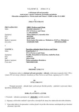 zmluva 1 2011 text - Špeciálna základná škola Pavlovce nad Uhom