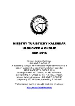 Miestny Turistický kalendár Hlohovec a okolie (.pdf dokument)