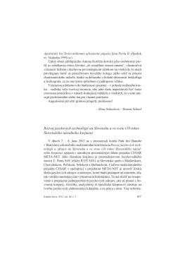 Rozvoj jazykových technológií na Slovensku a vo svete (10 rokov