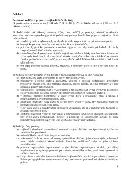 1 Príloha 1: Povinnosti rodičov v príprave svojho dieťaťa do školy (S