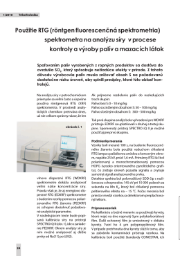Použitie RTG (röntgen fluorescenčná spektrometria) spektrometra