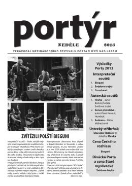 zvítězili polští bieguni - Mezinárodního festival PORTA v Ústí nad