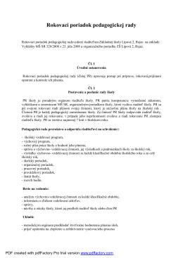 Rokovací poriadok PR 2014.docx - Základná škola, Lipová 2, Rajec