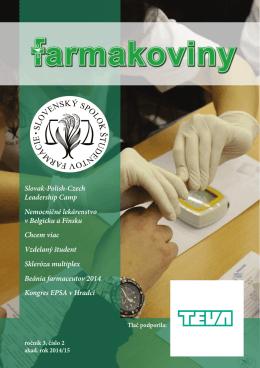 Farmakoviny číslo 2 roc 3.indd - Slovenský spolok študentov farmácie