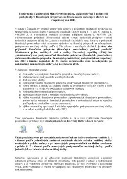 Usmernenie k predkladaniu žiadostí o poskytnutie - MEDIK