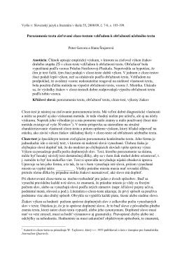 Porozumenie textu zisťované cloze-testom vzhľadom k obťažnosti
