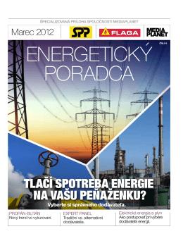 TLAČÍ SPOTREBA ENERGIE NA vAŠU PEŇAŽENKU?