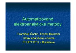 Čacho, Beinrohr-Elektrochem. metódy.ppt [Režim