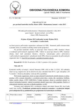 SLOVENSKÝ POĽOVNÍCKY ZVÄZ - ústredie