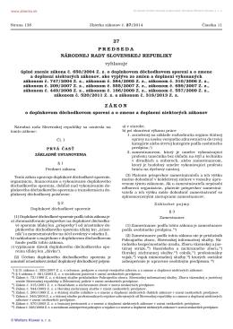 27/2014 Úplné znenie zákona č. 650/2004 Z. z. o