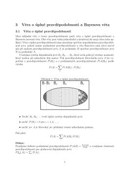 3 Vera o úplné pravdepodobnosti a Bayesova veta