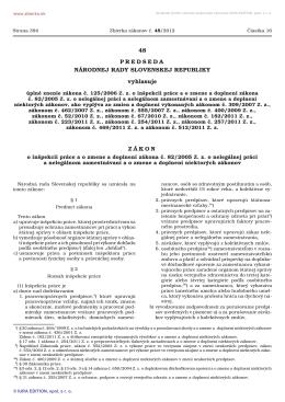 48/2012 Úplné znenie zákona č. 125/2006 Z. z. o