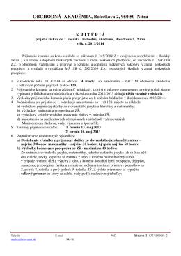 646102 Obchodná akadémia Nitra, Bole?kova 2, Nitra