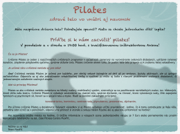 Viac o Pilates TU!