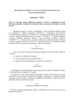 Smernica č. 7/2011