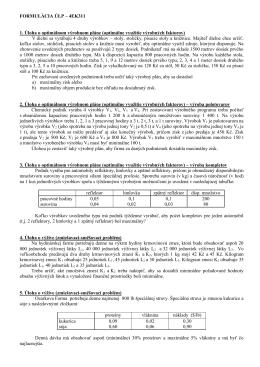 FORMULÁCIA ÚLP – EKO414