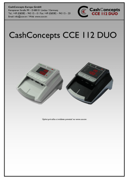 CashConcepts CCE 112 DUO