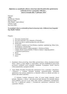 Zápisnica zo zasadnutia výboru a dozornej rady, 27