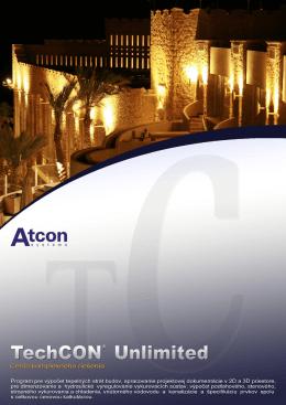 Podrobný zoznam nových funkcií a modulov verzie TechCON 6.0