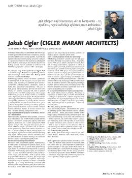 Jakub Cigler (CIGLER MARANI ARCHITECTS)
