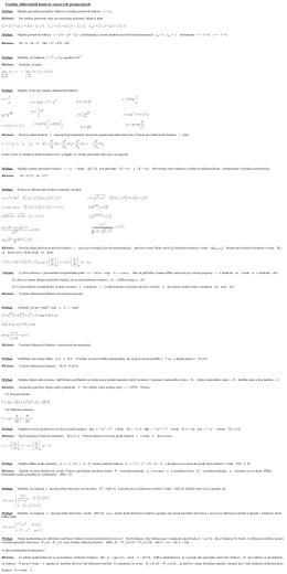 Totálny diferenciál funkcie viacerých premenných