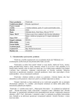 Vlastiveda 2. - 4. roč. - Základná škola Zlaté Klasy