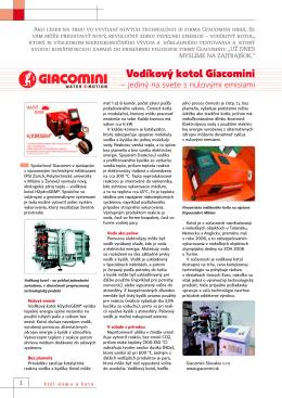 Vodíkový kotol Giacomini