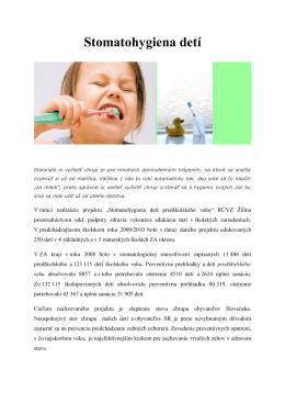 Stomatohygiena detí