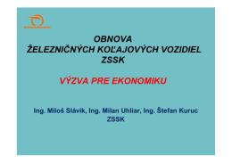 Obnova železničných koľajových vozidiel ZSSK