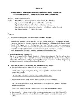 Zápisnica - MAS Topoľa, o, z