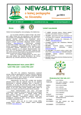 Newsletter jar 2011