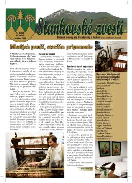 Stankovské zvesti, 2013, VI. ročník, 4. číslo