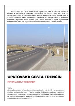 1 Opatovská cesta Trenčín