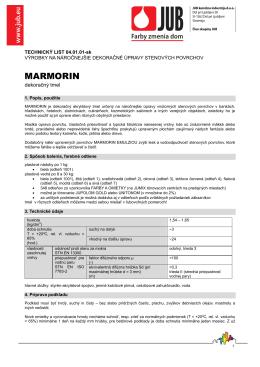 Technický list Marmorin