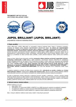 Technický list Jupol Brilliant - do
