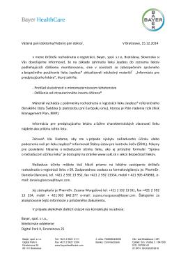 Vážená pani doktorka/Vážený pán doktor, V Bratislave