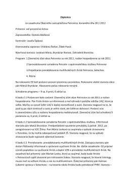 Zápis a uznesenie 28.2.2012