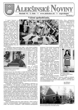 alekšinské noviny