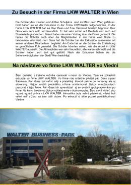 Zu Besuch in der Firma LKW WALTER in Wien Na návšteve vo firme