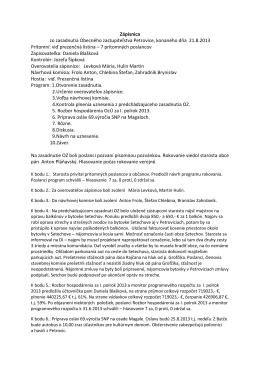 Zápisnica a uznesenie z 21.8.2013