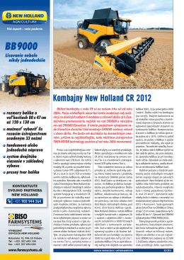 Kombajny New Holland CR 2012