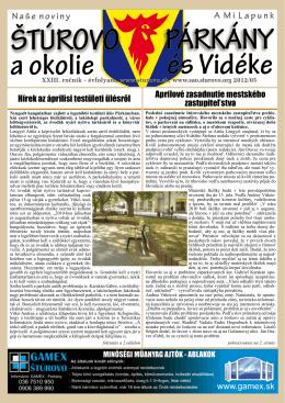 2012/5 - Mesto Štúrovo