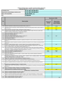 Cashflow k 30.6.2013