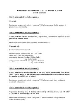 Návrh uznesení RVZ 29.5.2014
