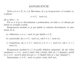 4. Kongruencie